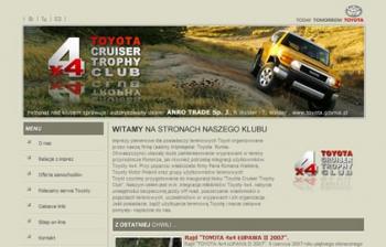 Serwis www oraz sklep wykonany dla przedstawiciela TOYOTA Polska