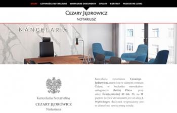 Strona www dla Notariusza w Gdyni