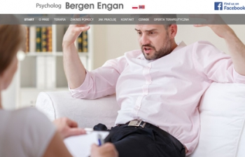 Strona www dla psychologa Norwegia